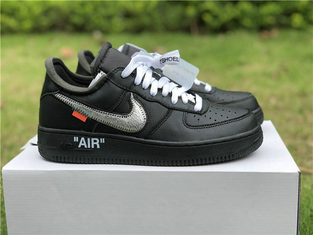 competitive price 1fb95 fa38a Authentic Off White x Moma Air Force 1 Low Black