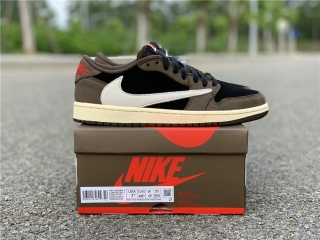 "Authentic Travis Scott x Air Jordan 1 Low ""Dark Mocha"""